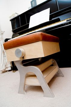 A bespoke adjustable piano stool with sheet music storage. The project was underpinned by initial research and consultations with the client. & Adjustable duet piano #stool with #storage. high gloss #black with ... islam-shia.org