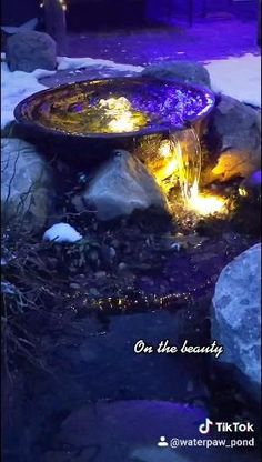 I am in love with the lights and look of this swim pond ecosystem at night this winter. Waterpaw Ponds is your Michigan Swim Pond expert. Pond Design, Garden Design, Garden Paths, Garden Landscaping, Boyne City, Traverse City Michigan, Victorian Cottage, Ponds Backyard, Water Features