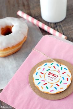 National Donut Day is June 6th - host a fun donut party with these free printables | NoBiggie.net