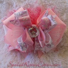 Sanrio Hello Kitty My Melody custom printed ribbon using t-shirt transfer paper <3