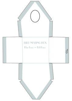Bird house template