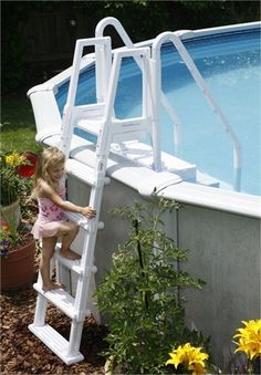 new high quality large above ground swimming pool easy step ladder
