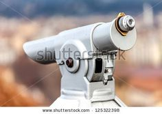 Closeup Of Coin Operated Telescope. Stock Photo 125322398 : Shutterstock
