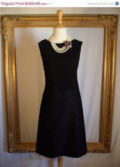 Vintage 1960's Teal Traina Little Black Dress  by thebazarhome, $149.25