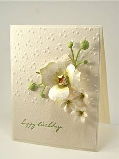 Arizona Maine did this beautiful card on scs  Very pretty flowers.
