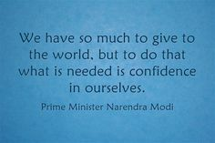 PM: We have so much to give to the world, but to do that what is needed is confidence in ourselves #PravasiDivas