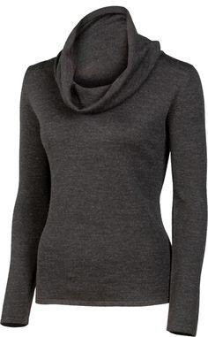 "JASMINE | 25"" Drape Neck Pullover | Merino | color: Charcoal | $174 | www.krimsonklover.com"