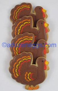 Great Thanksgiving Turkey Cookies
