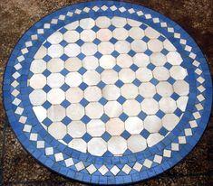 Table ronde en Zellige / Motif Tagra - Art et Sud Déco