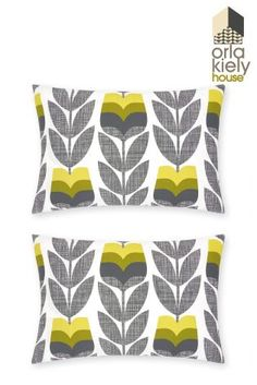 Buy Set Of 2 Orla Kiely Rosebud Corn Yellow Housewife Pillowcases online today at Next: Israel