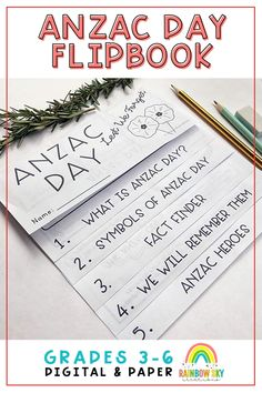 ANZAC Day Flipbook is a printable and digital resource is for students to reflect upon ANZAC Day and what this important commemoration means in our country. It focuses on the history, cultural significance and meaning of ANZAC Day. Anzac Day activities for Year 3, Year 4, Year 5, Year 6. Teaching Resources, Teaching Ideas, Class Displays, Cultural Significance, Rainbow Sky, Anzac Day, Year 6, Australian Curriculum, Remembrance Day