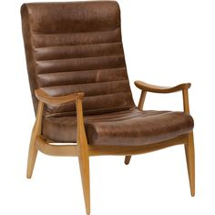 Hans Leather Chair*$1629 This chair is awesome.  Good for the man cave, good for my cave.