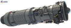 Military Supersonic Turbofan Aircraft Engine 3D Model
