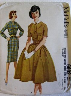 McCalls Vintage 1960s Misses Womens Day Evening Dress by Vntgfindz