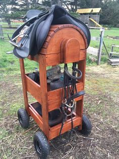 Lockable and mobile Saddle tack stand /equestrian Horse Stalls, Horse Barns, Horses, Horse Riding Tips, Horse Tips, Horse Tack Rooms, Horse Barn Designs, Horse Barn Plans, Dream Stables