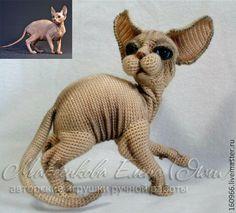 Купить Кошка СФИНКС - бежевый, кот, Сфинкс, порода сфинкс, кошка сфинкс, авторская работа