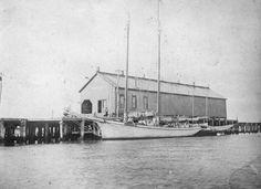 Joseph Dixon docked at the Cedar Key wharf - Cedar Key, Florida