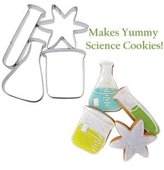 Express your love of science in the kitchen with this Science Lab Cookie Cutter Set. #kitchenscience