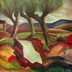 August Macke - Weide am Bach (72,0 x 72,0 cm)