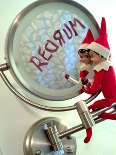 This is why I refuse to get an Elf on the Shelf. You never know what those suckers are gonna at night!