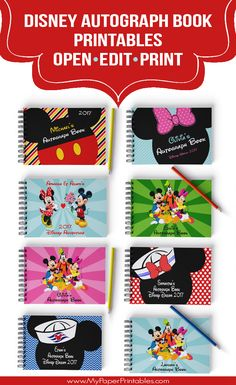 Printables | Disney Printables | Autograph Books | Tickets To Disney | Iron On Transfers | Digital Download | Autograph Pages | Instant Download | Walt Disney World | Disney World | Disney Land | Disney T Shirts | Disney Clip Art