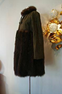 37c02e767f0 Vintage Bonnie Cashin Coat    60s NOS Bonnie by xtabayvintage Green Suede
