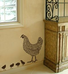Four Little Chicks Stencil Kit  Reusable by CuttingEdgeStencils, $14.95