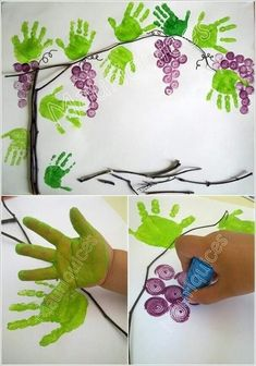 13 Super Cool Grape Crafts to Make This Spring - Fall Crafts For Kids Crafts To Make, Arts And Crafts, Paper Crafts, Diy Crafts, Fall Crafts For Toddlers, Toddler Crafts, Toddler Themes, Fruit Crafts, Daycare Crafts