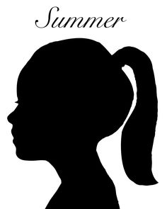A silhouette of my daughter. I used the pen tool in Photoshop to make this.