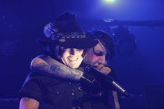 Johnny Depp with Marilyn Manson -