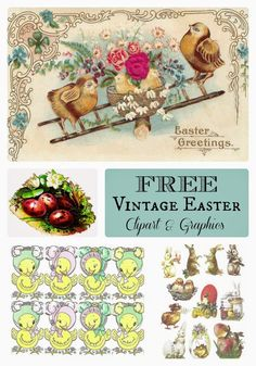 How to create a super quick last minute easter hostess gift rook no recipes crafts whimsies for spreading joy free vintage easter graphics clipart scrap sheets negle Images
