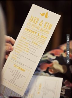 wedding programs by | VIA #WEDDINGPINS.NET