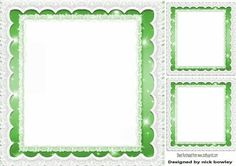 green starlight with lace frames insert and toppers 8x8 on Craftsuprint - Add To Basket!