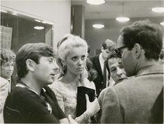Roman Polanski, Catherine Deneuve and Jean-luc Godard at Cannes Film Festival, 1965