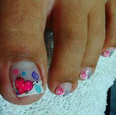 Pedicura Pedicure Nail Art, Toe Nail Art, Shellac Nails, Diy Nails, Cute Pedicure Designs, Cruise Nails, Toe Nail Designs, Simple Nails, Pretty Nails