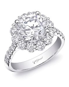 Coast Diamond Engagement Ring in White Gold with Round Halo and Diamonds Down the Shoulder I Style: LZ0245 I https://www.theknot.com/fashion/charisma-collection-lz0245-coast-diamond-engagement-ring?utm_source=pinterest.com&utm_medium=social&utm_content=june2016&utm_campaign=beauty-fashion&utm_simplereach=?sr_share=pinterest