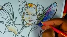 Crayola Colored Pencil coloring of Dollar Store My Fairy Friends  Colori...
