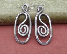 Oval Swirl Big Earrings   Light Weight by nicholasandfelice, $18.00