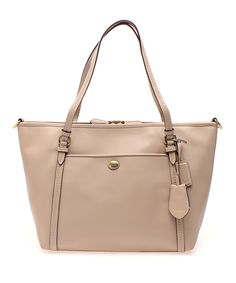 Look at this Coach Sand Peyton Signature Leather Tote on #zulily today!
