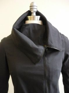 Awesome Asymmetrical Jacket in Navy, Maternity Jacket, Asymmetric, High Collar, Cowl Neck, Plus Size, Petitie, Fall, Blue, Oversized Collar