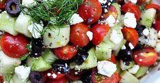 Salade de tomates cerises et fromage feta...vinaigrette aneth et ail