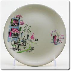 SALE Alfred Meakin Plate Parisian Scene by hazelhome Vintage Crockery, Vintage Plates, Vintage China, Vintage Ceramic, Retro Vintage, China Plates, Plates And Bowls, Alfred Meakin, China Patterns