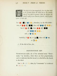 "inline graphic proofs in ""The First Six Books of the Elements of Euclid"" by Oliver Byrne, 1847"