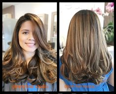Golden balayage and hair cut done by Peter   Gleam Hair Studio Miami  