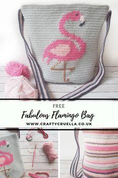 Crochet handbags 406520303866128418 - Fabulous Flamingo Bag ~ a FREE Pattern by Crafty Cruella Source by igyarmati Crochet Handbags, Crochet Purses, Crochet Bags, Double Crochet, Single Crochet, Crochet Designs, Crochet Patterns, Crochet Flamingo, Mochila Crochet
