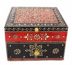 Red and Black Decorative Jewelry Box