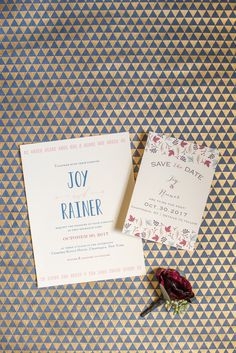Mikkel Paige Photography photos of a wedding at Crabtree's Kittle House in Chappaqua, New York. Picture of the bride and groom's fall invitation.