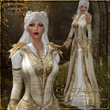 {AS} Mirkwood Medieval Fantasy Rigged Mesh Gown: Gold White, for Elven Queen, Blouse & Pant Clothing Layer Omega Applier Elven Queen, Warrior Queen, Gown Skirt, Tauriel, Sims 4 Clothing, Fantasy Costumes, Fantasy Dress, Medieval Fantasy, Piece Of Clothing