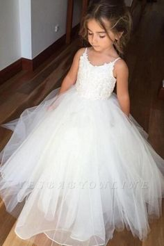 flower girl dresses Spaghetti Straps Ivory Ball Gown Tulle Flower Girl Dress sold by SheDress. Shop more products from SheDress on Storenvy, the home of independent small businesses all over the world. Dress Flower, Tulle Flower Girl, Princess Flower Girl Dresses, Cheap Flower Girl Dresses, Tulle Flowers, Tulle Lace, Dress Lace, Wedding Flower Girl Dresses, Wedding Dresses
