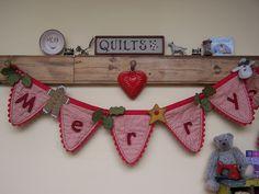 Mandy Shaw 'Merry Christmas' Bunting!
